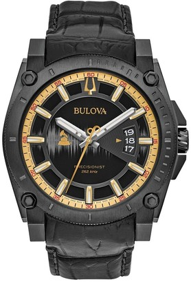 Bulova Men's Special Edition Grammy Precisionist Leather Strap Watch