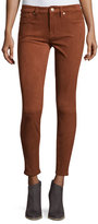 7 For All Mankind Knee-Seam Sueded Skinny Jeans, Cognac