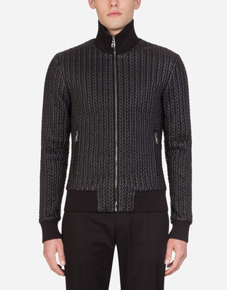 Dolce & Gabbana Quilted Nylon Jacket With Patch