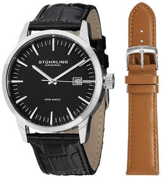 Stuhrling Original Men's Ascot 42 Watch With Interchangeable Strap