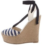 Gucci Striped Espadrille Wedges