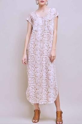 Entro Snake Print Dress