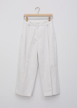 Margaret Howell Cotton Linen Drill Deep Pleat Trouser