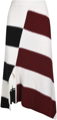 Mrz Stripe Asymmetric Skirt