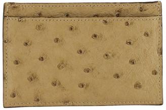Gucci Beige Ostrich Leather Card Holder