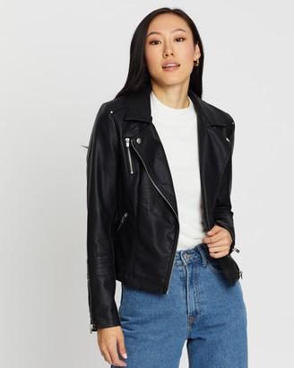 Only Gemma Faux-Leather Biker Jacket