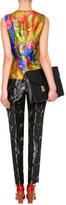 Peter Pilotto Multicolored Embroidered Silk Sleeveless Juliana Top
