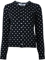 Comme des Garcons polka dot cardigan - women - Wool - XS