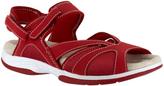 Easy Street Shoes Red Santana Leather Sandal