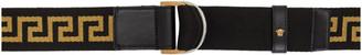 Versace Black and Gold Greca Belt