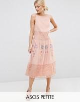 Asos PREMIUM Maxi Slip Dress With Neon Embroidery