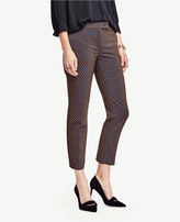 Ann Taylor Petite Devin Geo Jacquard Everyday Ankle Pants