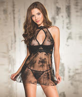 Shirley of Hollywood Lace Babydoll Set Lingerie - Women's