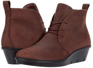 Ecco Skyler Chukka Boot (Chocolate) Women's Shoes