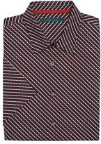 Perry Ellis Short Sleeve Mini Ribbon Shirt