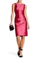 Carmen Marc Valvo Floral Brocade Sheath Dress