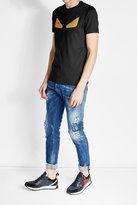 Fendi Embellished Cotton T-Shirt