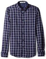 Ben Sherman Men's Plaid Long Sleeve Button-Down