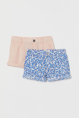 H&M 2-pack Cotton Shorts - Pink