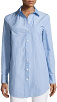Michael Kors Button-Front French-Cuff Tunic, Sky