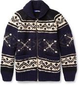 Junya Watanabe - Jacquard-knit Wool Zip-up Sweater