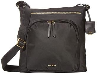Tumi Voyageur Carmel Crossbody (Black) Handbags