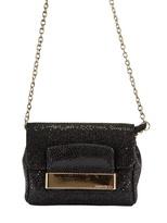 Jimmy Choo Caro Glitter And Leather Shoulder Bag