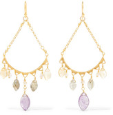 Chan Luu Gold-plated Multi-stone Earrings