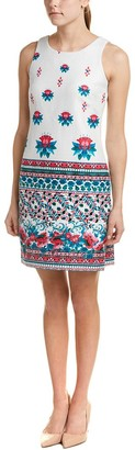 Taylor Dresses Women's Floral Border Print Stretch Hopsak Shift Dress