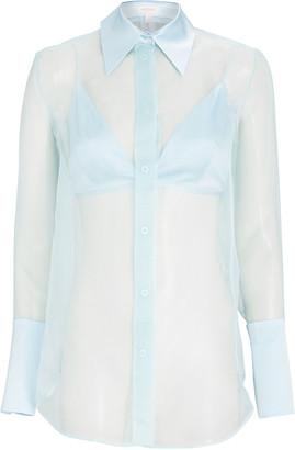 MATÉRIEL Silk Organza Button-Down Shirt