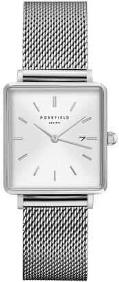 ROSEFIELD QWSS-Q02 The Boxy Silver Watch