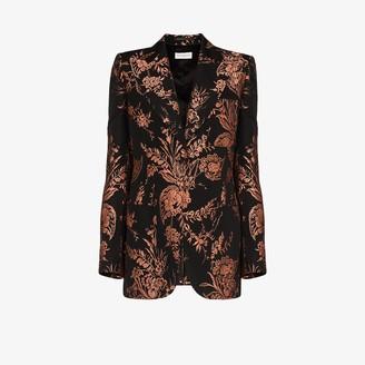 Dries Van Noten Bailey floral jacquard single-breasted blazer