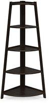 Furinno FNAJ-11112-1 5-Tier Corner Ladder Garden Shelf, Espresso