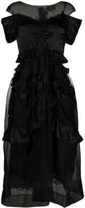 Simone Rocha Ruffled Tulle Midi Dress