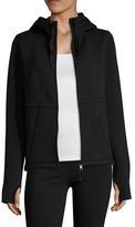 Betsey Johnson Techno Fleece Hooded Jacket
