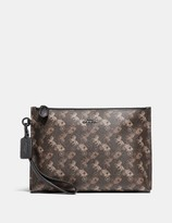 Coach Charlie Pouch With Horse And Carriage Print