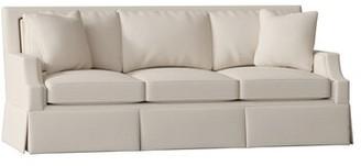 "Gabby Paige 86"" Recessed Arm Sofa Body Fabric: Zulu Vanilla, Nailhead Detail: Antique Brass, Cushion Fill: Ultra Plush"