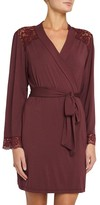 Eberjey Women's Vineland Wine Lila Short Robe