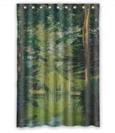 SherieHallborg The Beautiful Scenery Landscape Art Painting Bath Curtains Of Polyester Width X Height / 48 X 72 Inches / W * H 120 By 180 Cm Decoration Gift For Hotel Wife Her Kids Girl Va