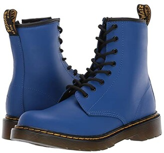 Dr. Martens Kid's Collection 1460 Delaney Boot (Big Kid) (Blue Romario) Kids Shoes