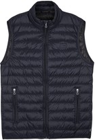 Armani Jeans Navy Quilted Shell Gilet