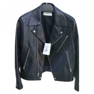 Celine Black Leather Jackets