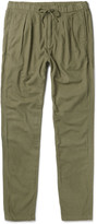 Nonnative - Farmer Slim-fit Tapered Brushed Cotton And Wool-blend Trousers