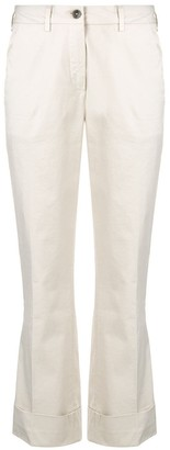 Fay Mid Rise Cropped Trousers