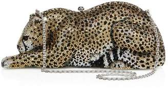 Judith Leiber Couture Wildcat Chiquita Crystal Clutch