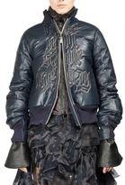 Sacai Leather Zippered Jacket