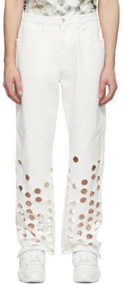 Maison Margiela White Bull 5-Pocket Jeans