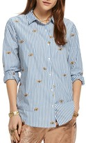 Scotch & Soda Embroidered Button-Down Shirt