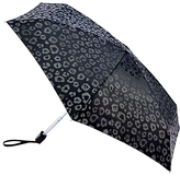 Fulton Tiny Luxury Leopard Folding Umbrella, Black