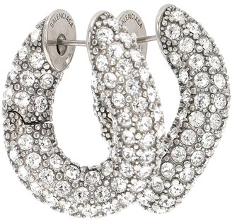 Balenciaga Loop embellished hoop earrings